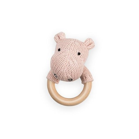 Rammelaar / Bijtring Hippo - Creamy Peach | Jollein