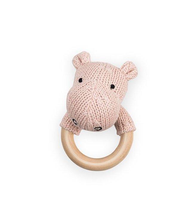 Jollein Rammelaar / Bijtring Hippo - Creamy Peach | Jollein