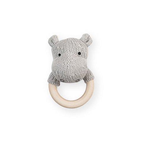 Rammelaar / Bijtring Hippo - Light Grey | Jollein