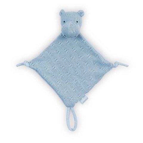Knuffeldoekje / Doudou Hippo Soft Blue | Jollein