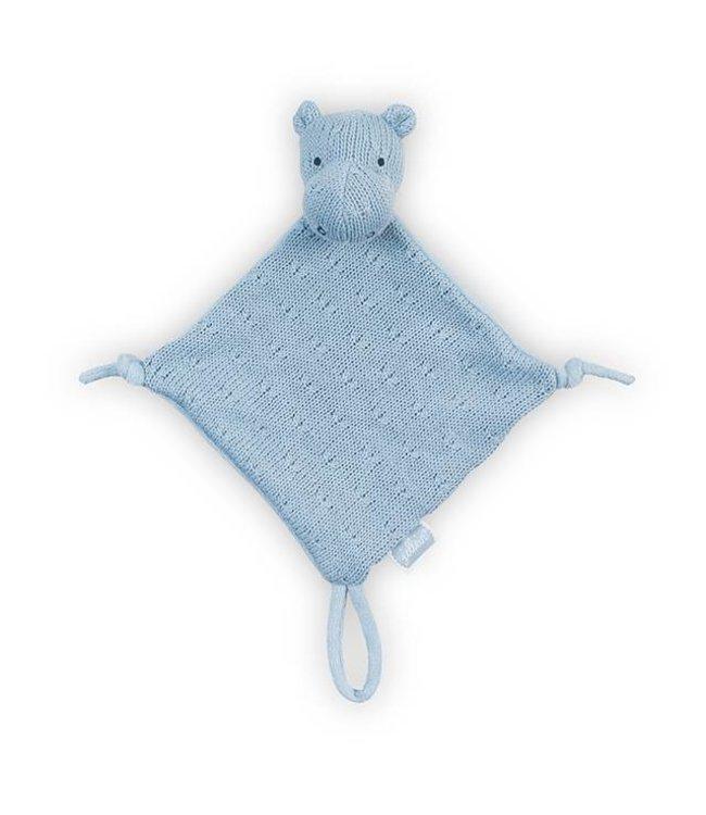 Jollein Knuffeldoekje / Doudou Hippo Soft Blue | Jollein