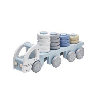 Kid's Concept Speelgoed Vrachtwagen met Ringen Blauw   Kid's Concept