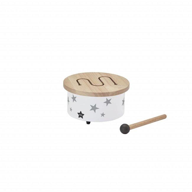 Kid's Concept Mini Houten Trommel - Wit / Grijs | Kid's Concept