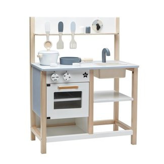 Kid's Concept Houten Keuken Naturel - Wit  | Kid's concept