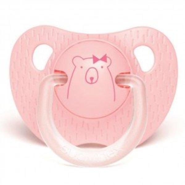 Suavinex Anatomische Fopspeen Meaningfull  in Silicone (0-6m) - Pink Bear   Suavinex
