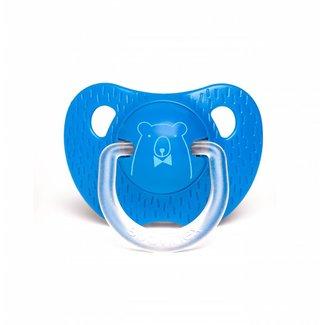 Suavinex Anatomische Fopspeen Meaningfull in Silicone (6-18m) - Dark Blue Bear | Suavinex