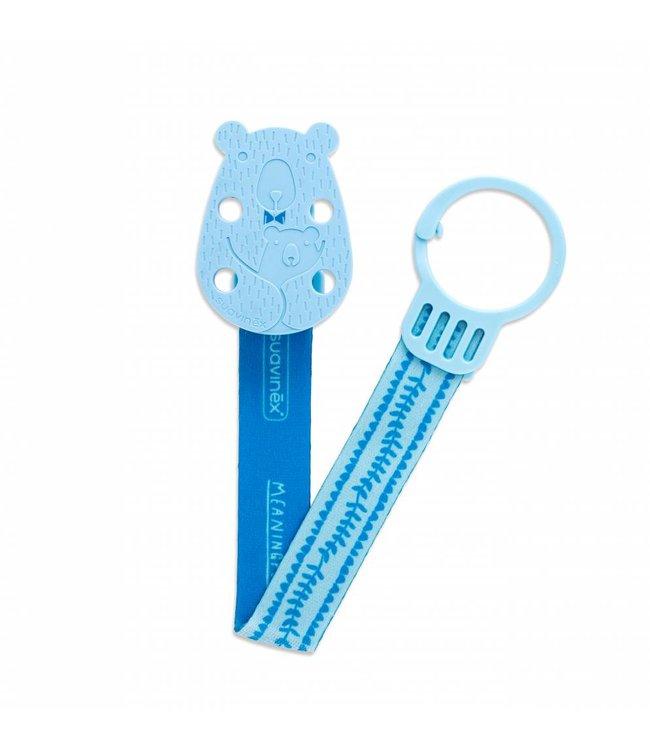 Suavinex Fopspeenketting Meaningfull - Bear Blue   Suavinex