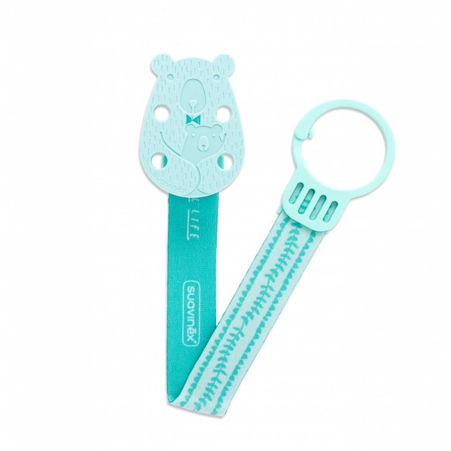 Suavinex Fopspeenketting Meaningfull - Bear Green | Suavinex