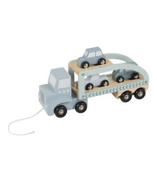 Little Dutch Houten Truck met 3 Autootjes | Little Dutch