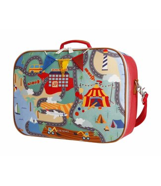 Jeune Premier Koffertje Suitcase Mini - Roadmap
