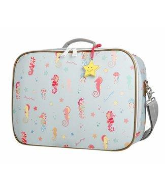 Jeune Premier Koffertje Suitcase Mini - Seahorse