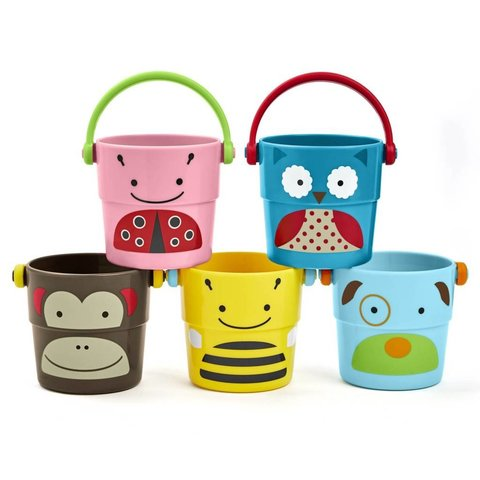 Badspeelgoed Stack & Pour Buckets | SKIP*HOP