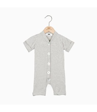 House of Jamie Summer Button Suit - Stone | House of Jamie