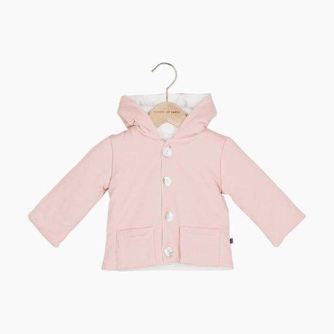Bow Tie Hooded Jacket - Powder Pink | House of Jamie