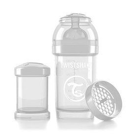 Twistshake Drinkflesje Antikoliek 180 ml - Wit | Twistshake