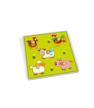 Scratch Inlegpuzzel - Boerderij Dieren | Scratch