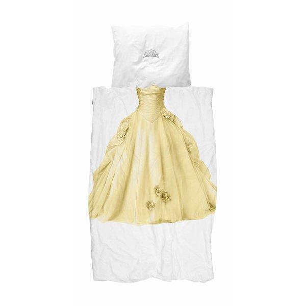 Snurk Eenpersoons Dekbedovertrek Prinses - Geel | Snurk