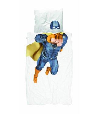 Snurk Eenpersoons Dekbedovertrek Superhero - Blauw  | Snurk