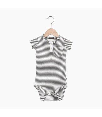 House of Jamie Button Bodysuit - Little Stripes | House of Jamie
