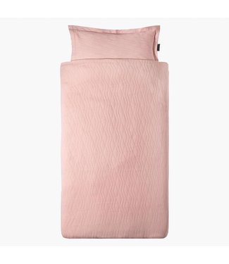 "House of Jamie Dekbedovertrek Ledikant  ""Geometry Jacquard"" - Powder Pink 