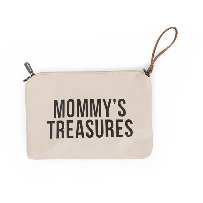 """Childhome Mommy Clutch - """"Off-white/Black"""" 