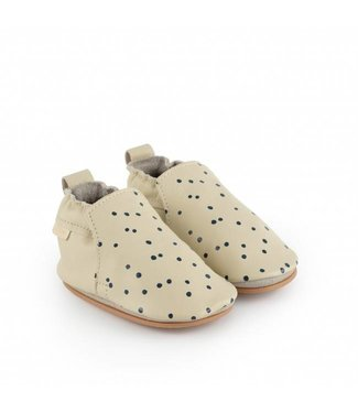 "Boumy Babyschoentjes Hagen Dot  ""Cream Leather"" 