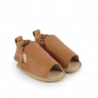 "Boumy Babyschoentjes Noa  ""Cognac Leather"" 