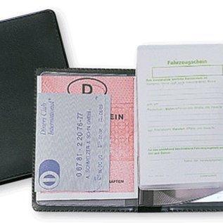 Ausweistasche und Fahrzeugpapiere