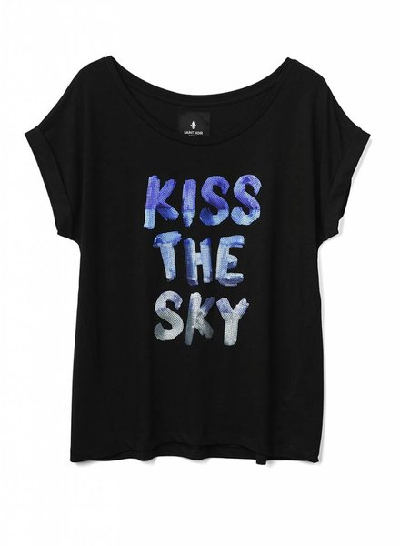 T-Shirt Round Neck Damen - Kiss The Sky