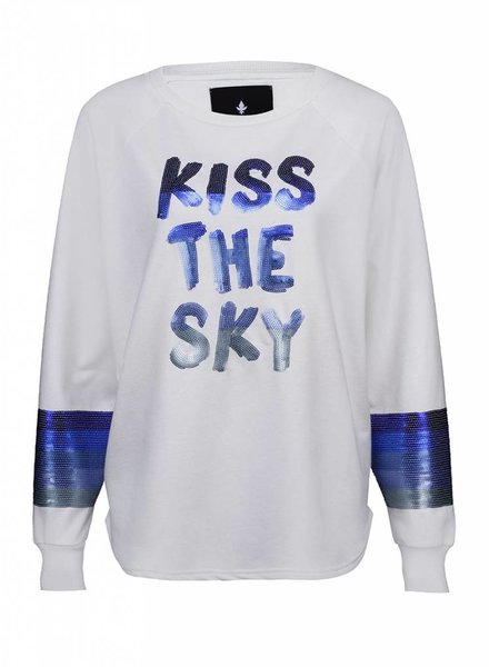Sweatshirt Longback Damen - Kiss The Sky