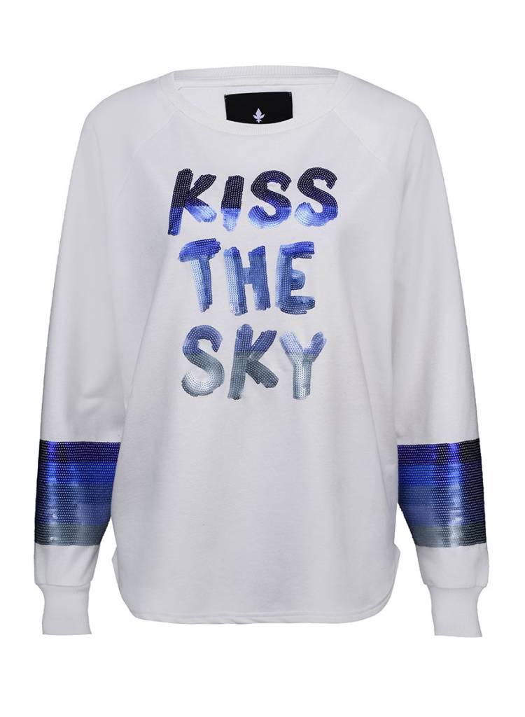Sweatshirt Long Back Ladies - Kiss The Sky