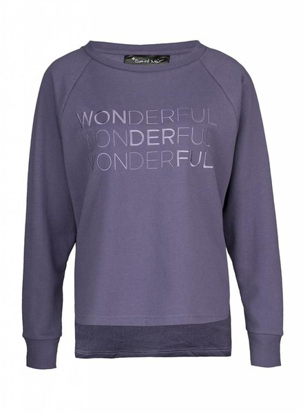 Sweatshirt Longback Damen - Wonderful