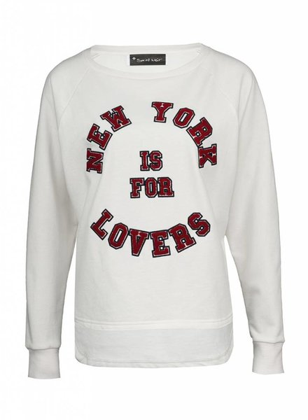 Sweatshirt Longback Damen - NY Lovers