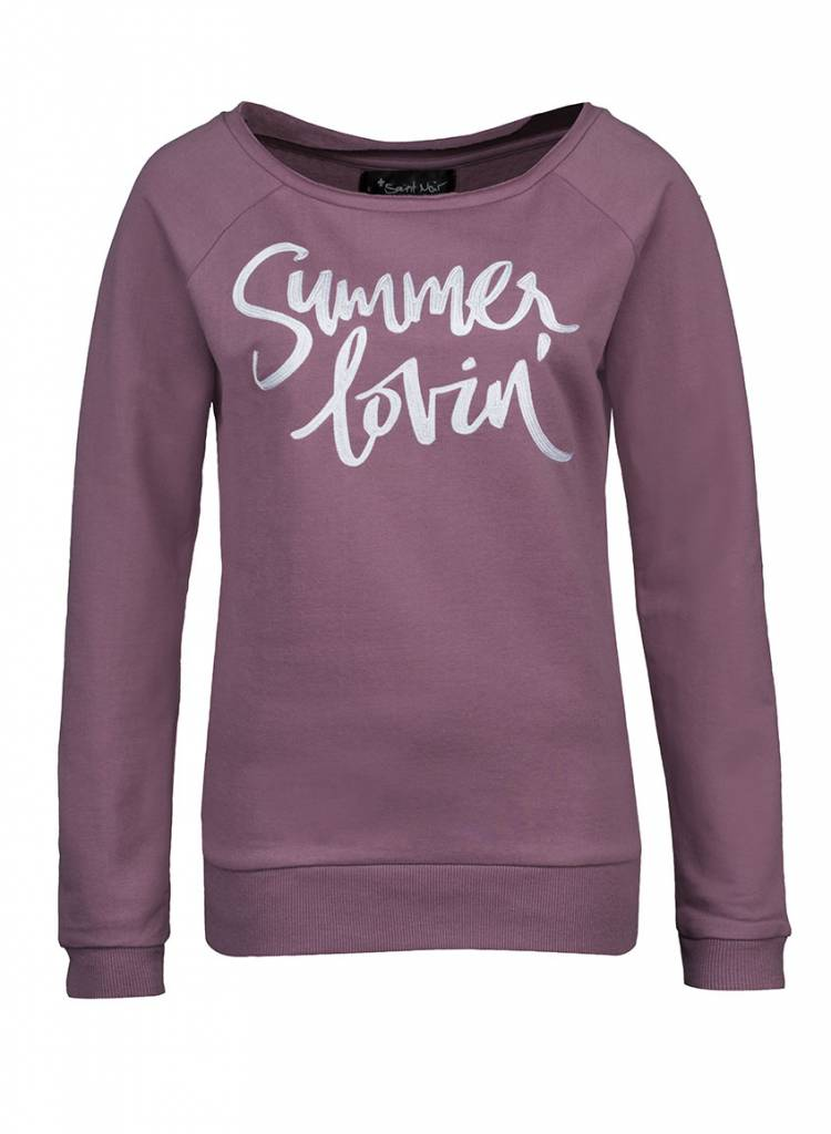 Sweatshirt Scoop Neck Women's - Summer Lovin '