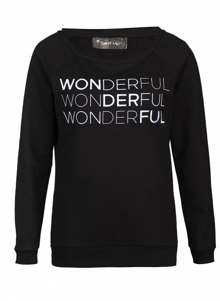 Sweatshirt Scoop Neck Damen - Wonderful