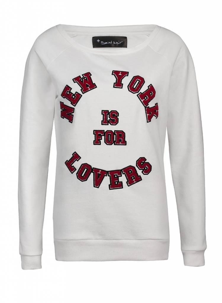 Sweatshirt Scoop Neck Damen - NY Lovers