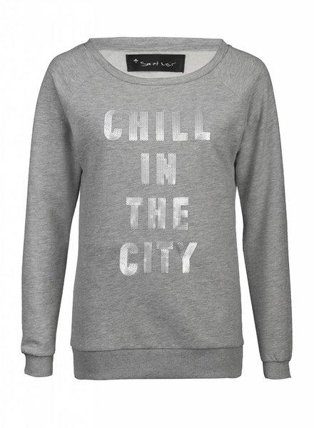 Sweatshirt Scoop Neck Damen - The City 2