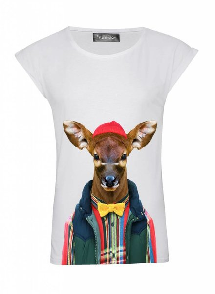 T-Shirt Rolled Sleeve Damen - Bongo Calf - Zoo Portraits