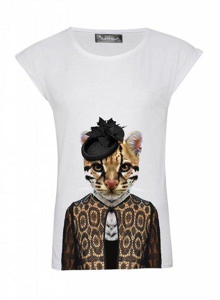 T-Shirt Rolled Sleeve Damen - Ocelot - Zoo Portraits