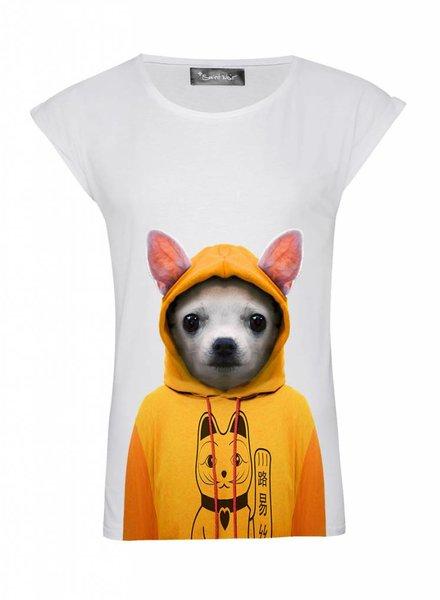 T-Shirt Rolled Sleeve Damen - Chihuahua - Zoo Portraits