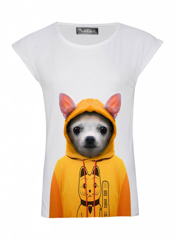 T-Shirt Rolled Sleeve Women - Chihuahua - Zoo Portraits