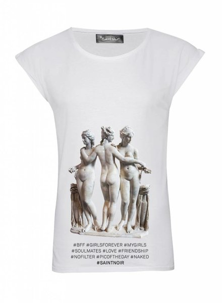 T-Shirt Rolled Sleeve Ladies - BFF - Statue Collection