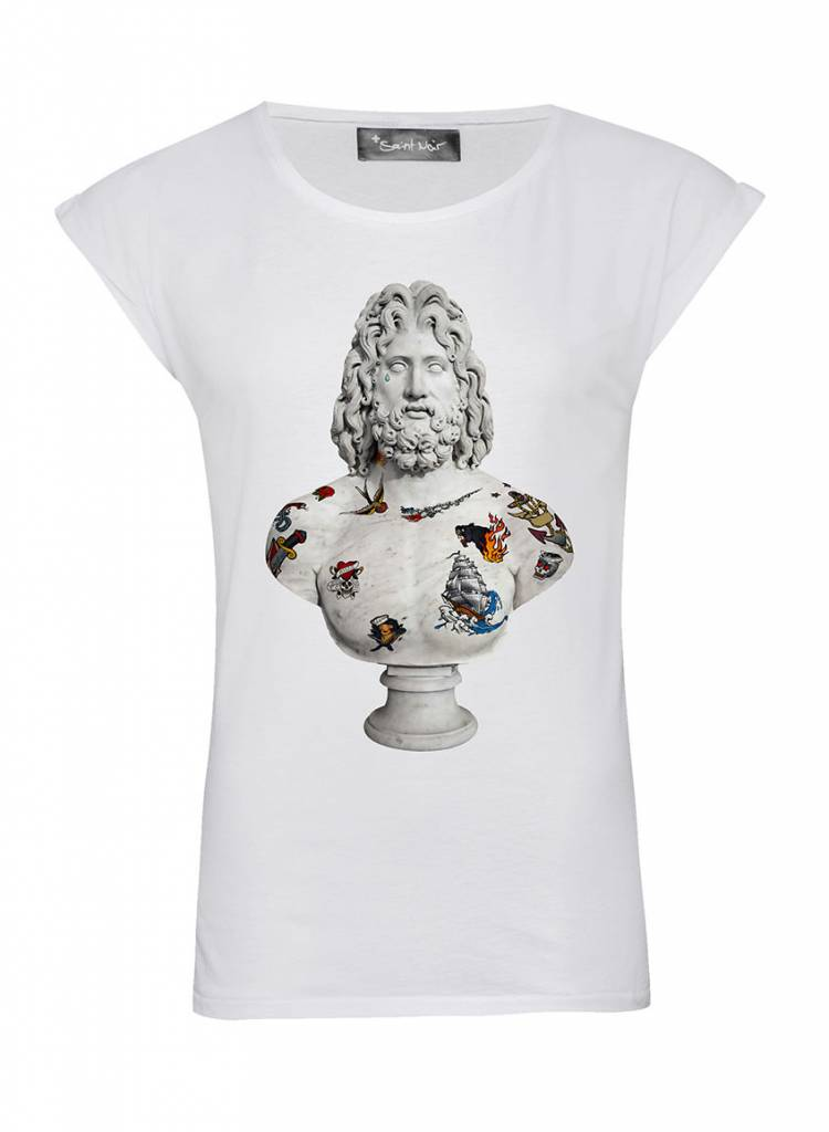 T-Shirt Rolled Sleeve Ladies - Mariner - Statue Collection