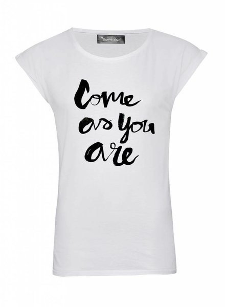 T-Shirt Rolled Sleeve Damen - Come As