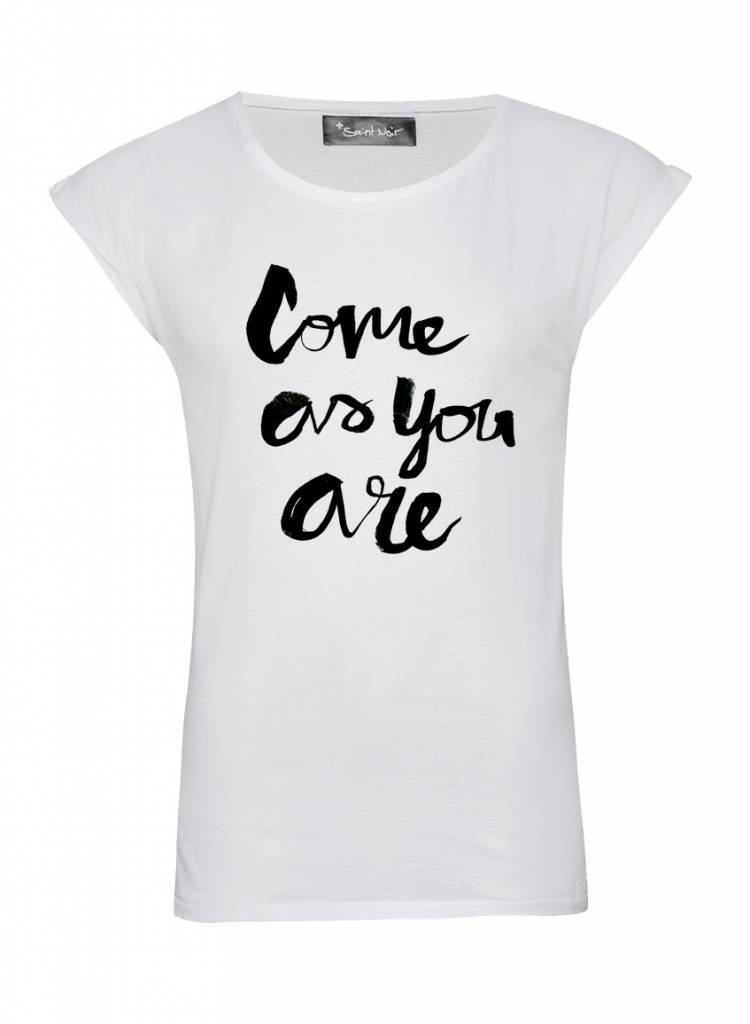 T-Shirt Rolled Sleeve Ladies - Come As