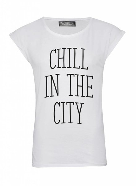 T-Shirt Rolled Sleeve Damen - The City