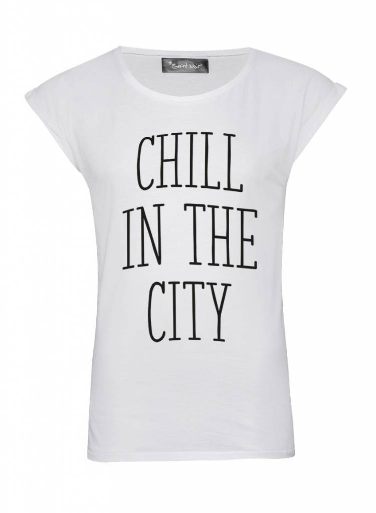 T-Shirt Rolled Sleeve Ladies - The City