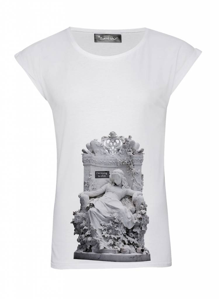 T-Shirt Rolled Sleeve Damen - Chill - Statue Collection