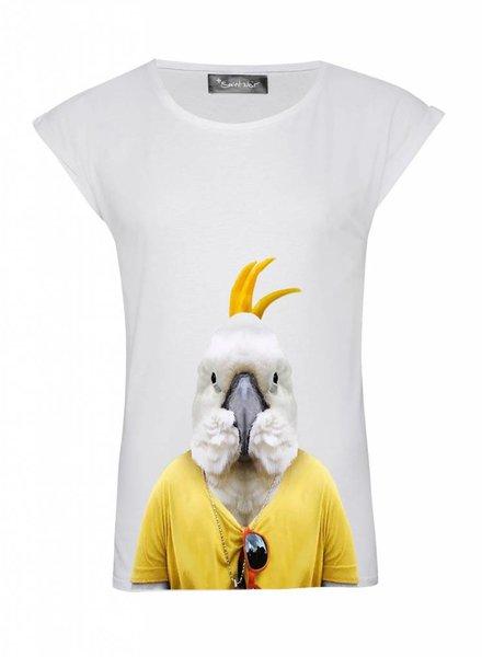 T-Shirt Rolled Sleeve Ladies - Cockatoo - Zoo Portraits