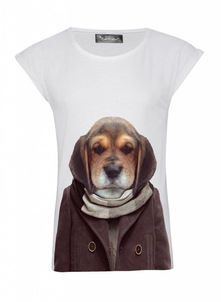 T-Shirt Rolled Sleeve Ladies - Puppy - Zoo Portraits